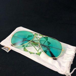 Accessories - Green RainbowOPTX Aviator Mood Glasses